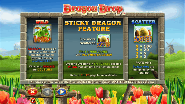 Характеристики слота Dragon Drop 8