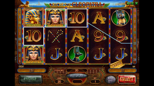 Бонусная игра Riches Of Cleopatra 1
